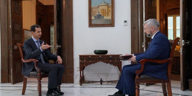 الرئيس الأسد: أردوغان يقاتل إلى جانب الإرهابيين انطلاقاً من أيديولوجيته الإخوانية