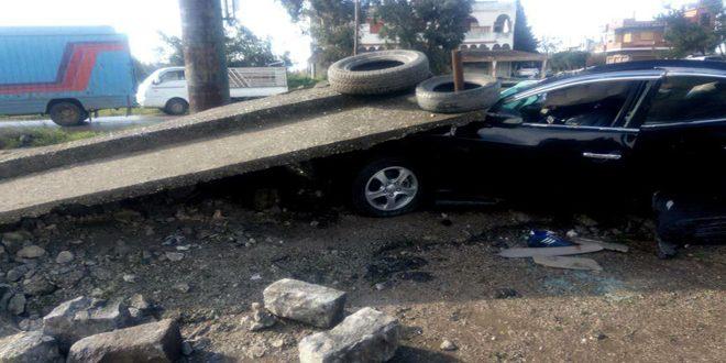 وفاة شخصين وإصابة اثنين آخرين جراء حادث سير على طريق حمص طرطوس
