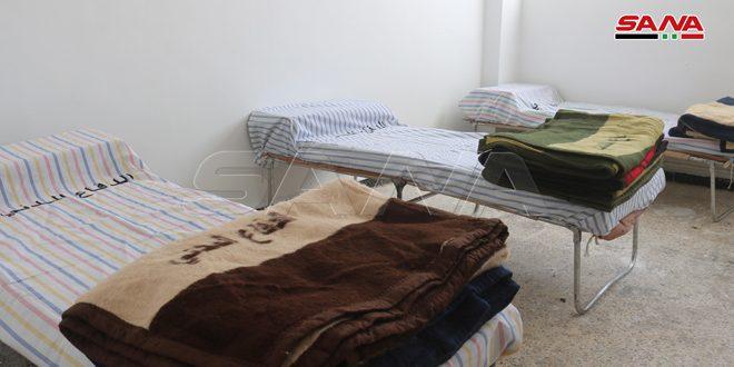 تجهيز مركز مؤقت للحجر الصحي في مبنى الصم والبكم بدير الزور
