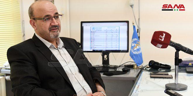 ممثل منظمة الصحة العالمية: واقع الإصابات بفيروس كورونا في سورية يعتمد على صرامة الالتزام بالإجراءات الحكومية المتخذة