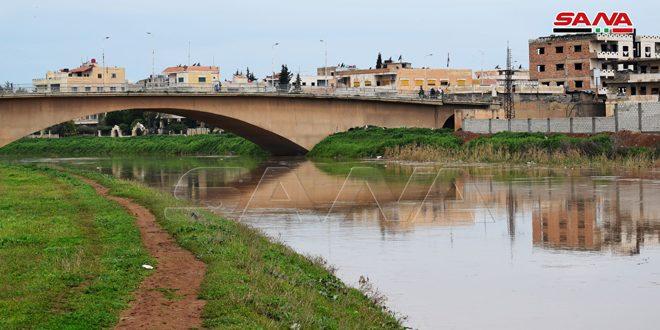 ارتفاع منسوب تدفق مياه نهر الخابور في الحسكة
