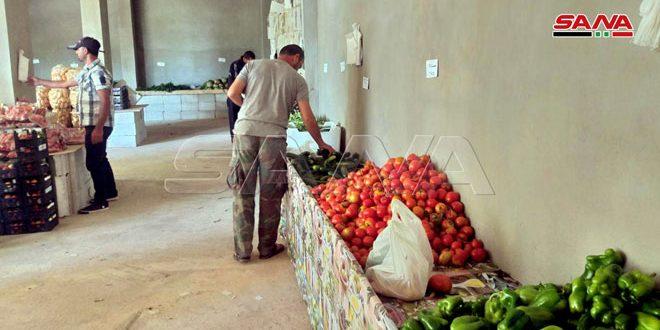 (سوق الفلاحين بضيعتنا) مبادرة أهلية لبيع منتجات الفلاحين للمستهلك دون وسيط بريف حمص الغربي