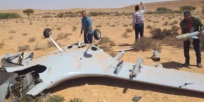 الجيش الليبي يسقط طائرة مسيرة تابعة للنظام التركي