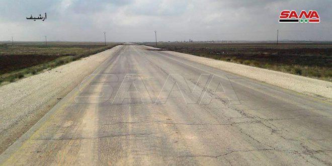 إعادة تأمين الطريق الدولي (ام 4) الحسكة حلب لمرور المدنيين بعد عدة خروقات من قبل مرتزقة الاحتلال التركي