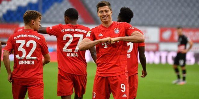 بايرن يفوز على دوسلدورف بخماسية في الدوري الألماني لكرة القدم