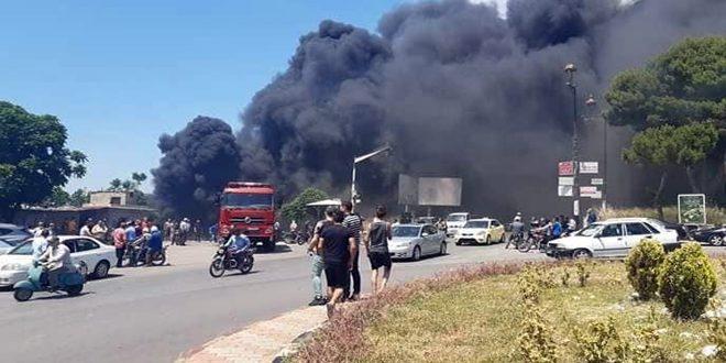إخماد حريق بأرض زراعية في بانياس أضراره اقتصرت على الماديات