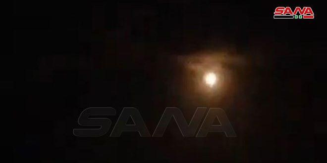 دفاعاتنا الجوية تتصدى لعدوان إسرائيلي في أجواء مصياف بريف حماة