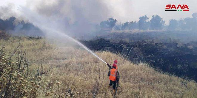 إخماد 17 حريقاً بحمص