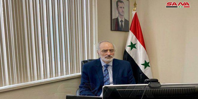 الجعفري: قوات الاحتلال الأمريكي والتركي ترتكب إرهاباً اقتصادياً يرقى إلى مستوى جرائم الحرب بحرق المحاصيل الزراعية في الجزيرة السورية