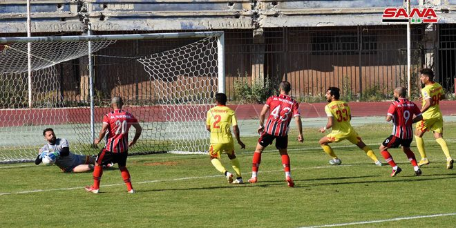 الوثبة يفوز على تشرين في قمة مباريات المرحلة 18 من الدوري الممتاز لكرة القدم