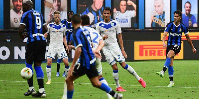 إنتر ميلان يتغلب على بريشيا بسداسية في الدوري الإيطالي