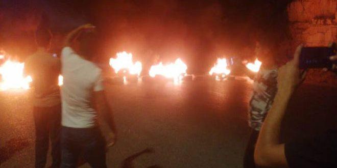تواصل الاحتجاجات المطالبة بتحسين الوضع المعيشي في لبنان