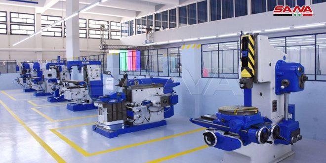 وضع مخبر الكهرباء الصناعية وقسم المعادن بالخدمة وافتتاح مركز تطوير الإدارة الإنتاجية في حلب