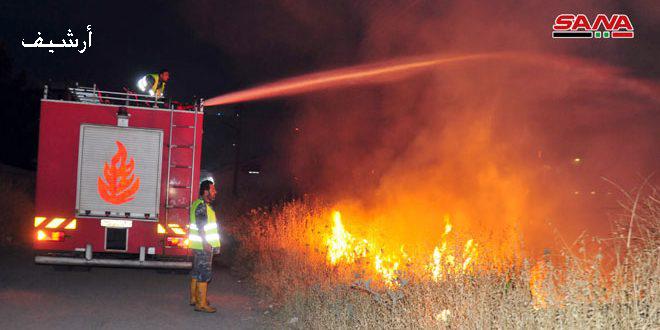تضرر 3700 دونم من الأراضي الزراعية جراء الحرائق بدرعا