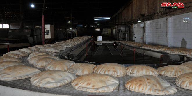 المخابز الآلية بالسويداء تنتج نحو 14 ألف طن خبز خلال 6 أشهر