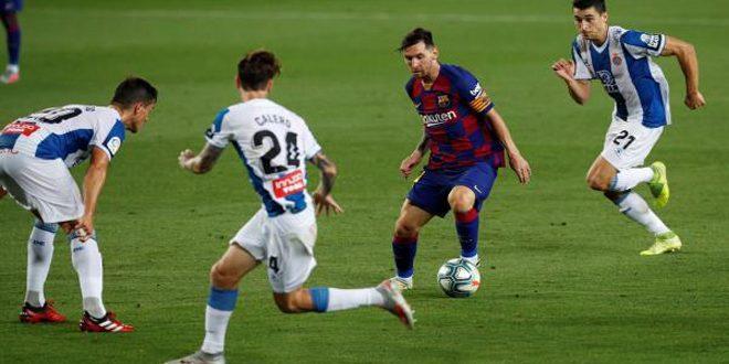 برشلونة يتغلب على إسبانيول في الدوري الإسباني بكرة القدم