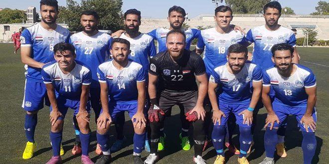 استعداداً للدور 16 لمسابقة كأس الجمهورية بكرة القدم /المجد يفوز على شرطة حماة