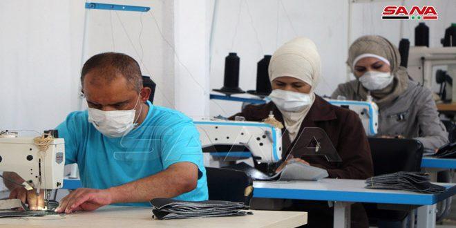 استئناف الإنتاج في معمل أحذية درعا