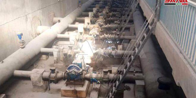مؤسسة مياه الحسكة تنهي صيانة 7 آبار مياه في مشروع علوك بريف رأس العين