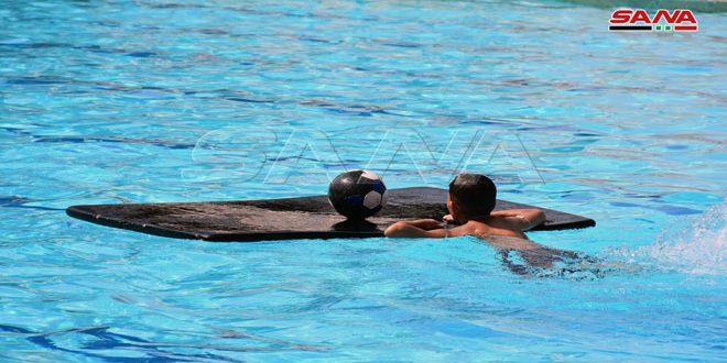 دورات مشروع بطل بحماة فرصة لإعداد لاعبين متميزين بلعبة السباحة