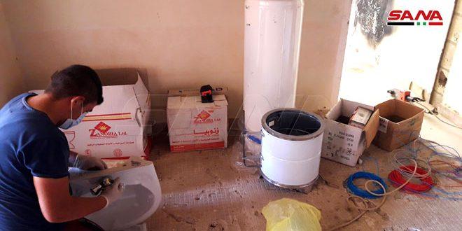 محافظة حمص بالتعاون مع منظمة ادفنتست للتنمية والإغاثة تبدأ بترميم عشرات المنازل لأهالي مدينة تدمر