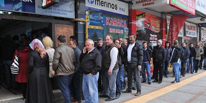 ارتفاع معدل البطالة في تركيا مع استمرار تراجع قيمة الليرة