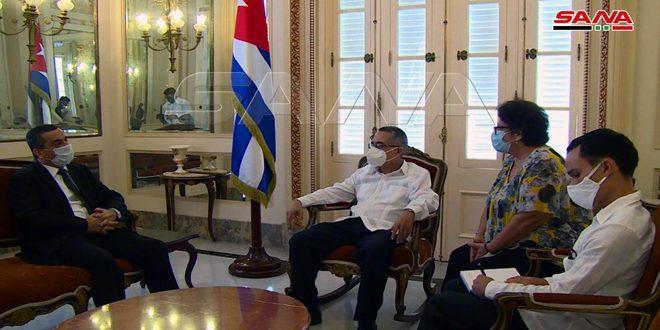 نائب وزير خارجية كوبا: سورية نموذج في الصمود وستتغلب على كل التحديات التي تواجهها