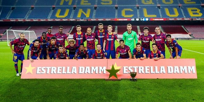 برشلونة يتوج بكأس خوان غامبر الودية لكرة القدم