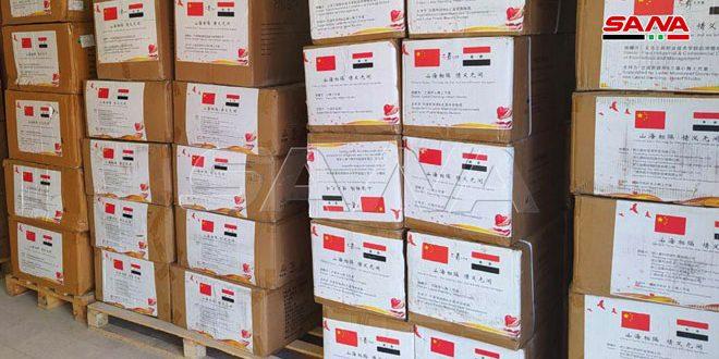 الصحة تتسلم دفعة جديدة من المساعدات الطبية الصينية لمواجهة كورونا
