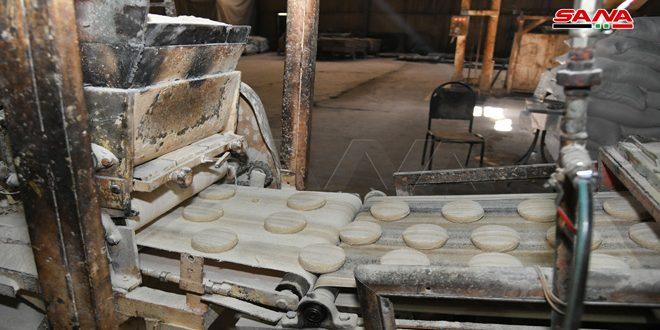 عودة مخبز المزة الآلي للعمل بكامل طاقته الإنتاجية