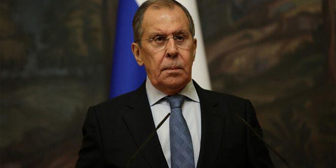 لافروف يجدد التأكيد على رفض روسيا وإدانتها الإجراءات القسرية أحادية الجانب المفروضة على سورية