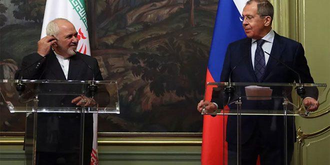 لافروف وظريف يؤكدان ضرورة القضاء على ما تبقى من بؤر الإرهاب في سورية والحفاظ على سيادتها ووحدة أراضيها