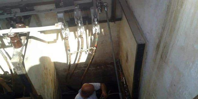 تركيب مركز تحويل كهربائي مسبق الصنع في مخبز الزهراء بمدينة حمص