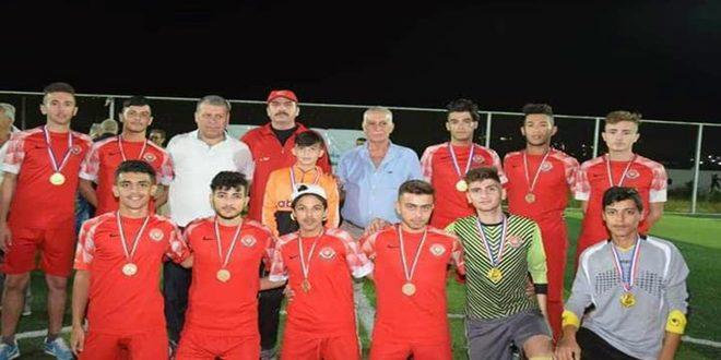 اختتام بطولة جامعة الحواش بحمص لكرة القدم