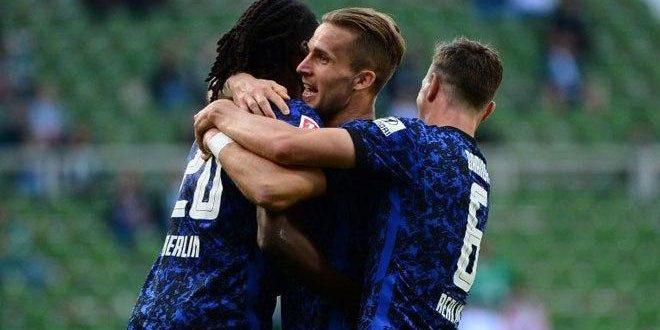 هيرتا برلين يفوز على بريمن في الدوري الألماني لكرة القدم