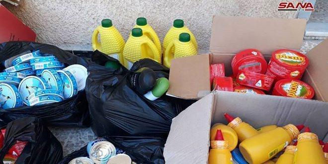 تنظيم 293 ضبطاً تموينياً في درعا وحمص بحق الفعاليات التجارية المخالفة