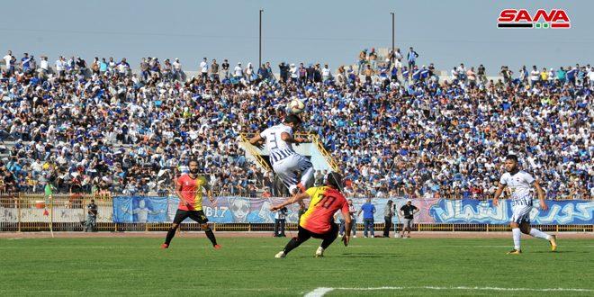 تشرين يفوز على حطين في افتتاح ذهاب الدوري الممتاز لكرة القدم