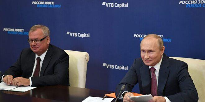 بوتين: تحفيز الاقتصاد الروسي والنشاط الاستثماري من أولويات عمل الحكومة