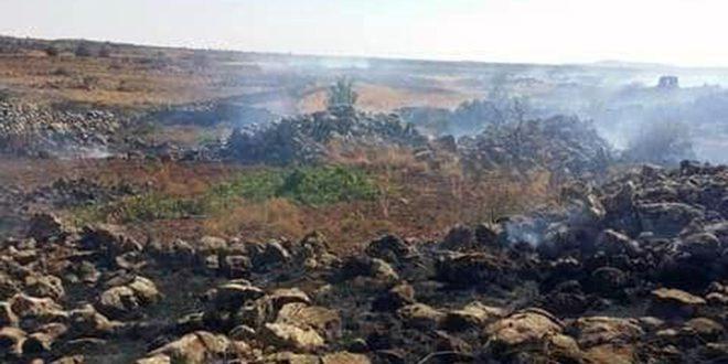 إخماد حريق بأراض زراعية بمنطقة خراب عرمان بالسويداء