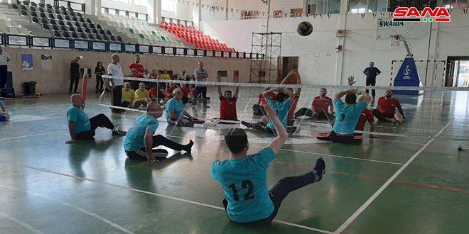 فوز منتخب السويداء على منتخب دمشق في مباراة بكرة الطائرة للرياضات الخاصة