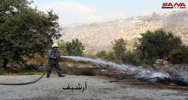 إخماد حريق بقرية ضهر بركات بريف اللاذقية