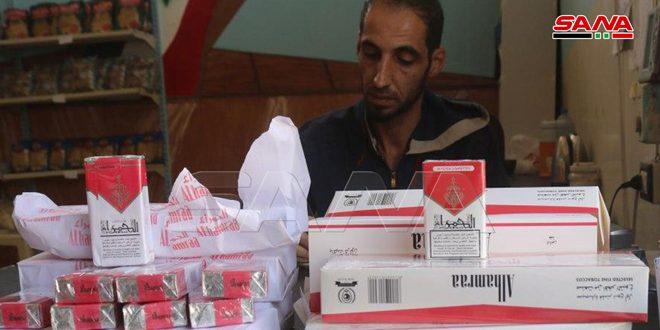 السورية للتجارة بدير الزور تطرح منتجات مؤسسة التبغ عبر صالات ومنافذ البيع التابعة لها