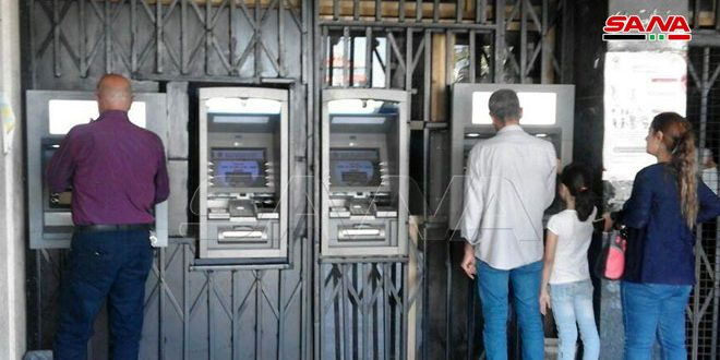 تركيب صرافين آليين جديدين للمصرف العقاري بالسويداء