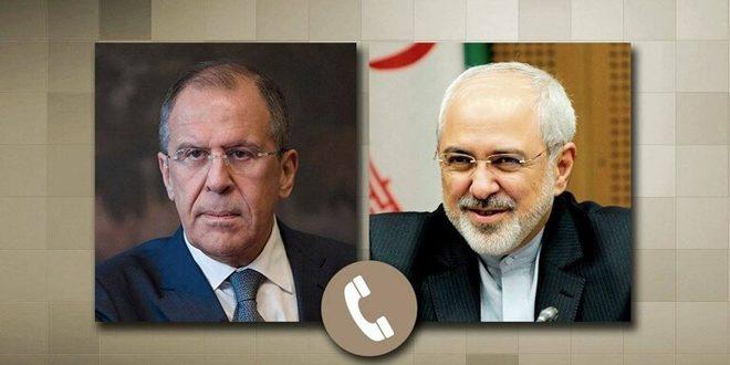 لافروف وظريف يبحثان هاتفياً الوضع في سورية والملف النووي الإيراني