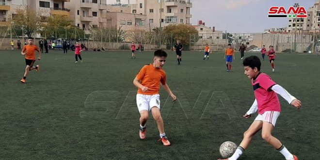فوز العربي وعرمان في دوري السويداء بكرة القدم للأشبال