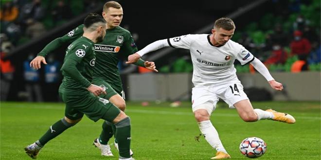 كراسنودار يحقق فوزه الأول في دوري الأبطال ويقطع تذكرة الدوري الأوروبي