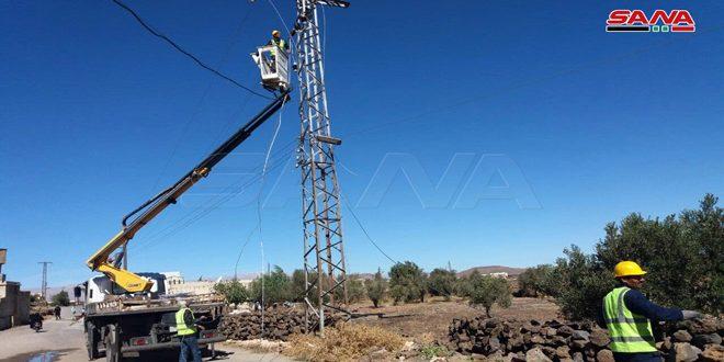 جهود كبيرة لكوادر كهرباء القنيطرة لإعادة التيار الكهربائي في عدد من المناطق