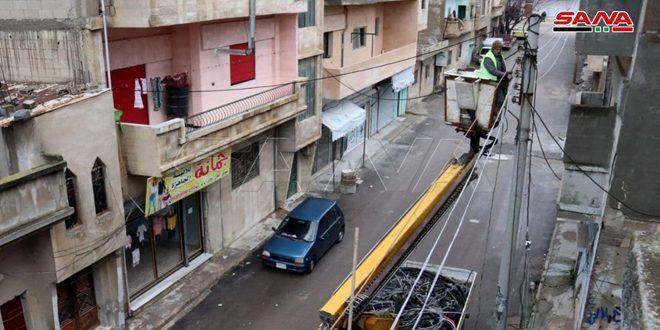 كهرباء حمص: إصلاح 38 مركز تحويل خلال أسبوع