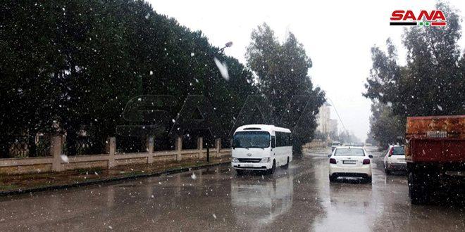 حالة الطرق نتيجة الأحوال الجوية السائدة