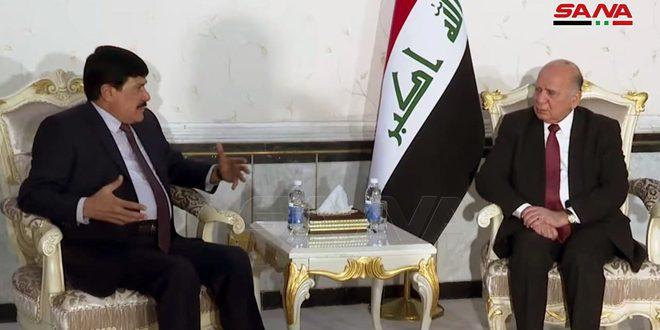 سورية والعراق يؤكدان ضرورة تضافر الجهود الدولية لمواجهة الإرهاب